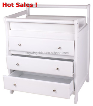 Sleigh Baby Change Table In White Kc Buy Sleigh Baby