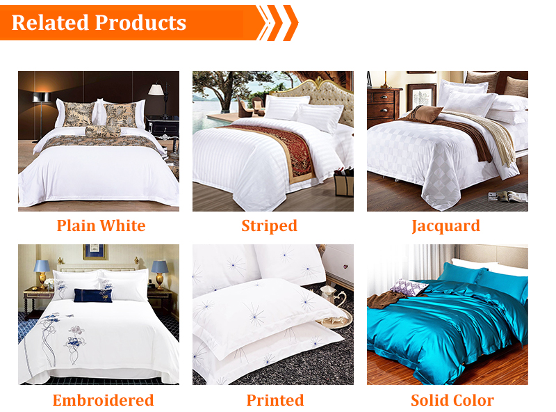 4PCS 100% Luxury Egyptian Cotton 250TC Bedding Sets check jacquard Duvet Cover Set