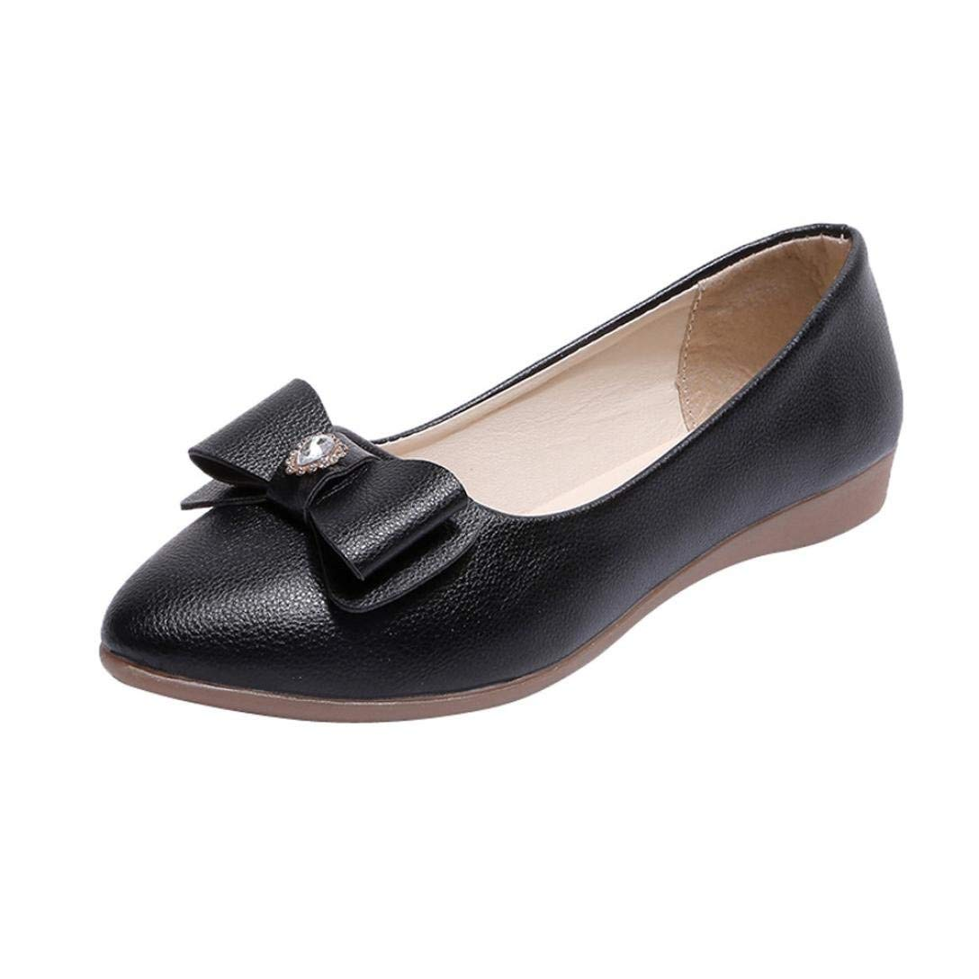 Sunshinehomely Women Diamond Bow Flat Shoes Flexible Spring Autumn Shoes Peas Casual Lazy Shoes Loafers