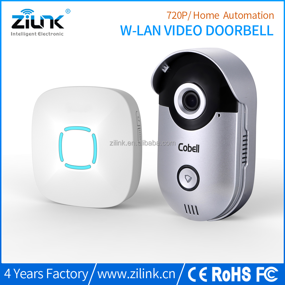 2017 hot selling outdoor waterproof two way intercom hd 720p video doorbell wireless