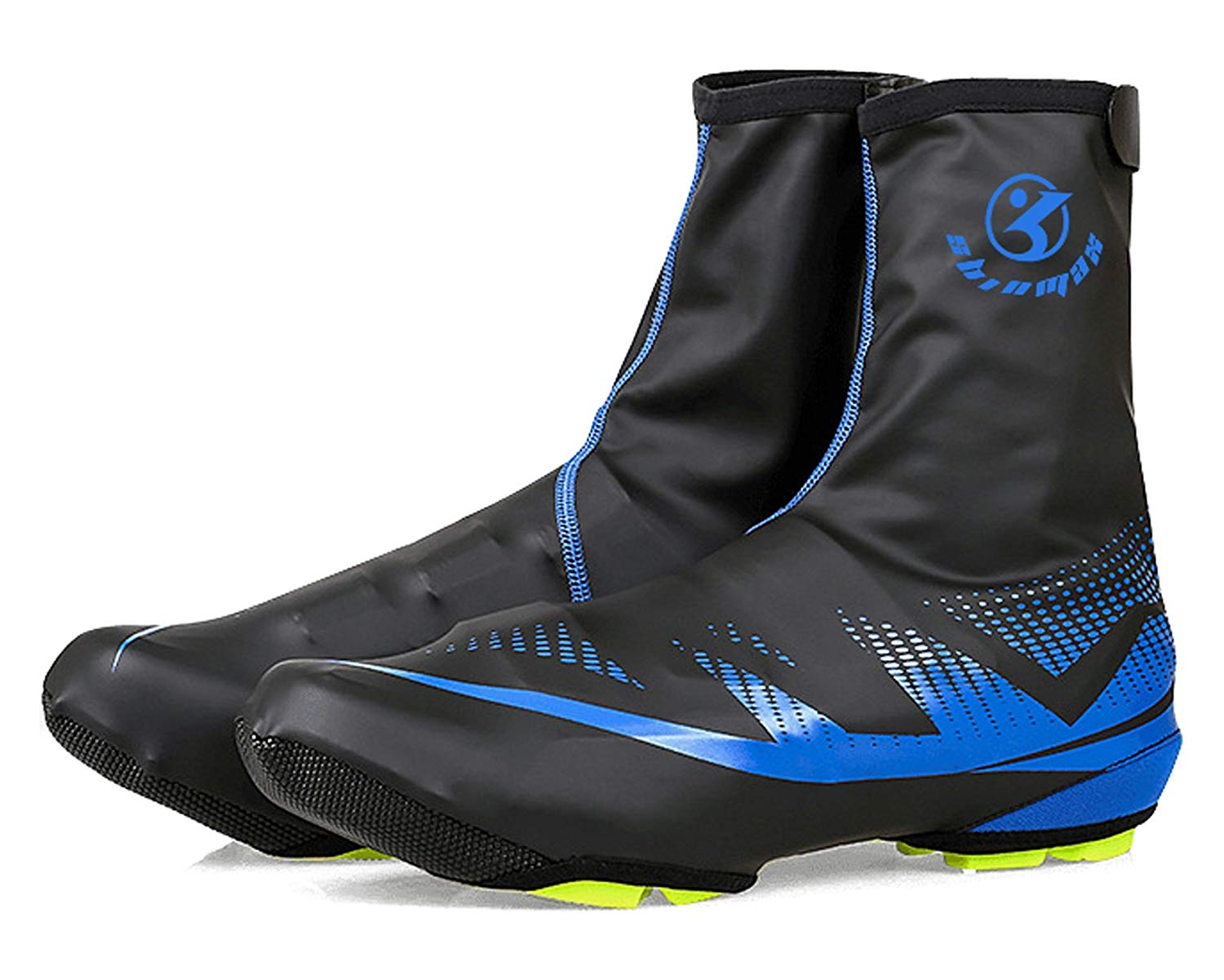 Bike Shoes Covers,A-Best Waterproof Overshoes Protector Shoe Feet Warmer Shoe Covers Bike Booties Cover for Men Women Outdoor Sports (Blue)