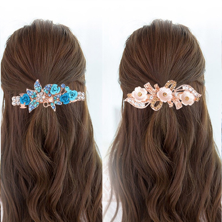 MPH009 Huilin Jewelry Fashion Designs Crystal Pearl Butterfly Leaf Bowknot Flower Phoenix Spring Hair Clip