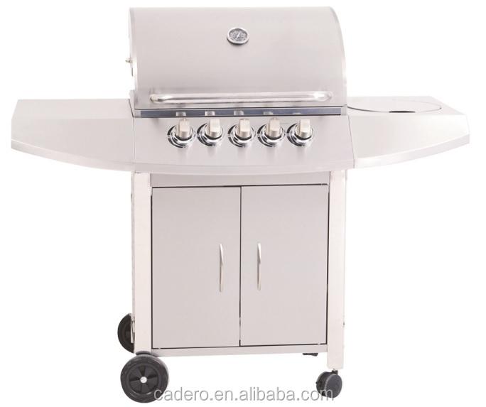 Cbc 311cc complet en acier inoxydable barbecue gaz grill - Barbecue gaz avec bruleur lateral ...