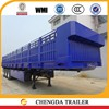 3 axle bulk trailer, 2016 hot sale 40ton bulk cargo trailer