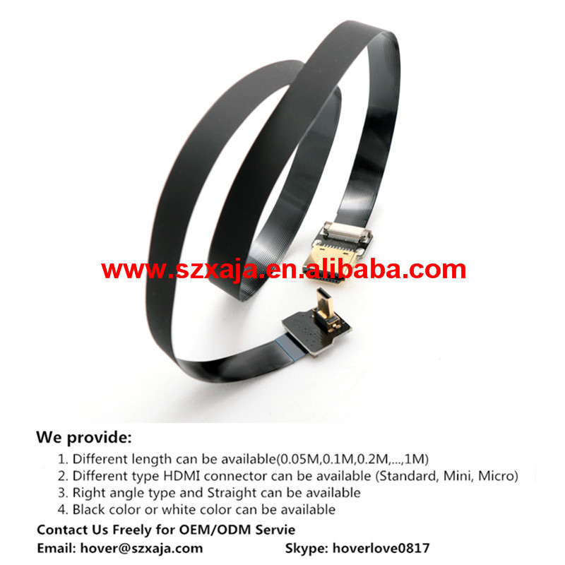 DJI Lightbridge full HD digital Illustrated dedicated HDMI flexible flat cable/flat ribbon cable/ FFC cable