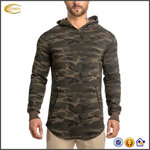 Ecoach spring autumn men's fashion 100%cotton camo camouflage custom print tall hoodie
