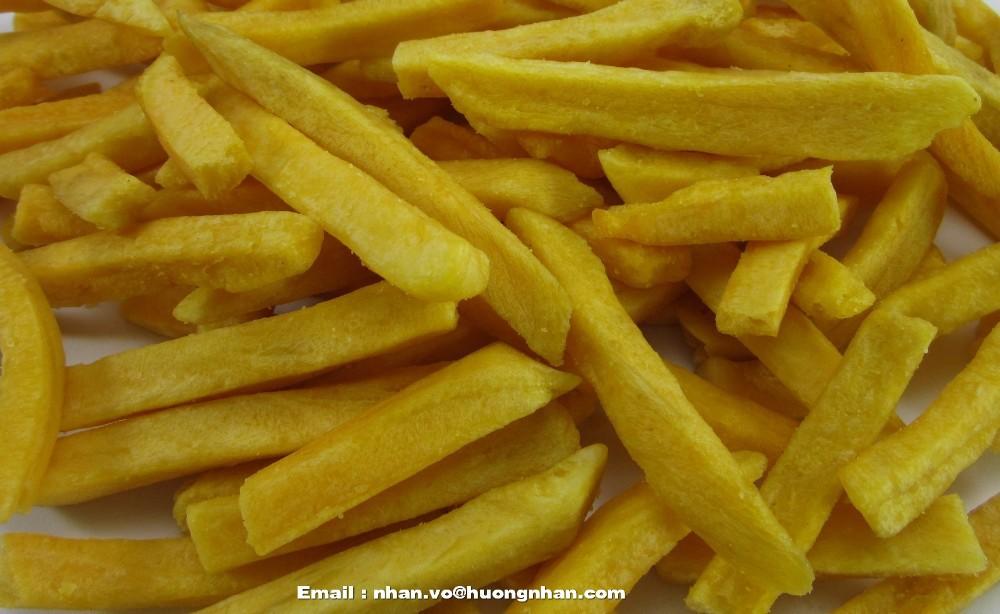 Fried Yellow Sweet Potato Chips