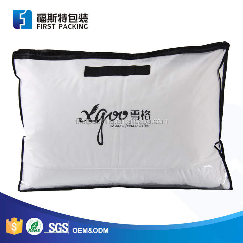 Good quality china manufactures plastic bags for pillow packaging