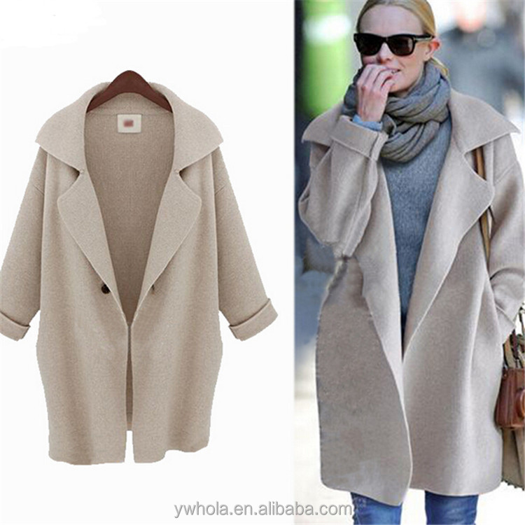 2015 Free Shipping European Style Ladies Knit Cardigan Long Coat Design