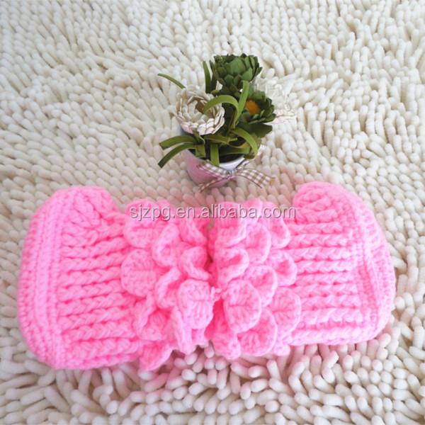 hand made various colors new born baby Crochet Slippers