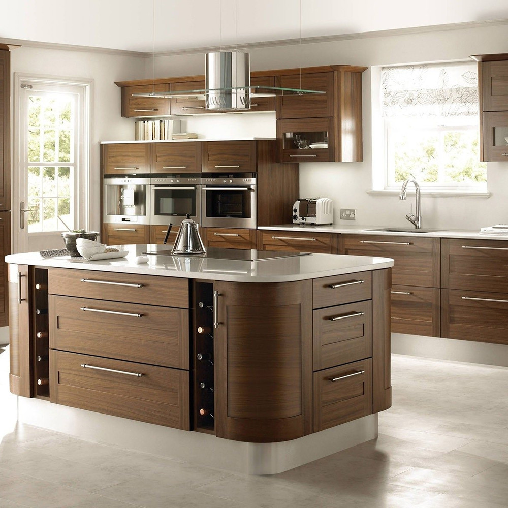 Kitchen Cabinet Package: Wooden Grain Assemble Package Kitchen Design Modern Style