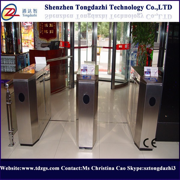 Stainless security turnstile flap barrier torniquetes with rfid door entry system