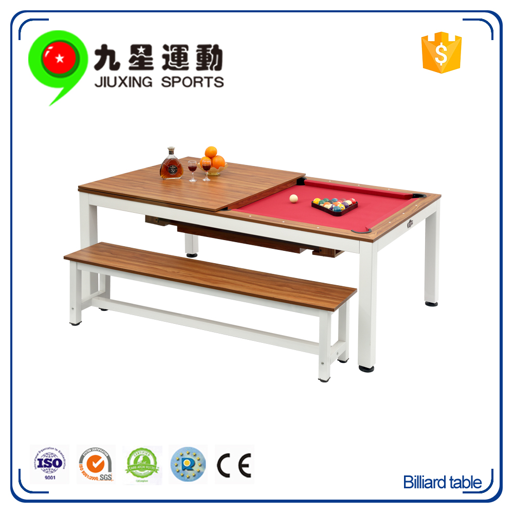 New Design Multi Functional Dining Pool Table MDF Family Use Dining Billiard  Table