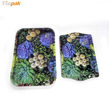 Golden Lacquer Recyclable Tinplate Rolling Round Metal Tray