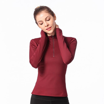 Elastic compression exercise long-sleeved quick-drying yoga female fitness blouse training tights t-shirt
