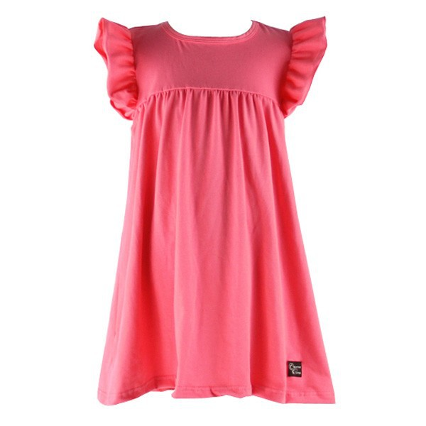 Wholesale fashion kids girl fancy baby cotton ruffle solid plain party wear cute children birthday dress for 3 year old