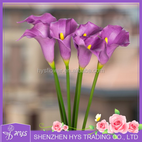 Factory Directly Hot Selling Top Quality Cheap Real Touch PU Wedding Decorative Fake Artificial Mini Calla Lily Flower