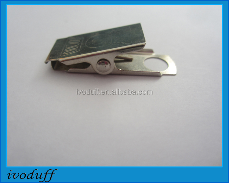 Wholesale Metal Clip for ID Card/Small Metal Clips for card holder