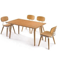 wholesale Simple design restaurant cafe coffee shop furniture dining table and chairs set