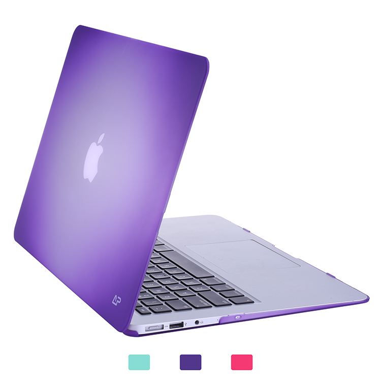Purple fade to white matte coating hard shell case for Macbook Pro 13