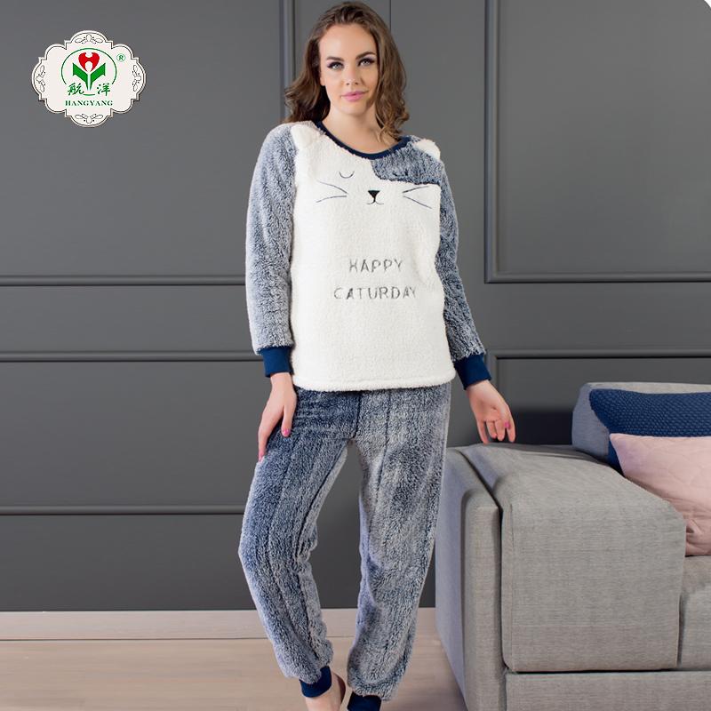 Setelan Pakaian Rumah Wanita, Piyama Katun Kosong Gamis Cocok untuk Perempuan
