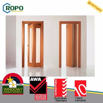 Factory Manufacture Four Pieces Glass Pvc Fabric Folding Door - Buy ...