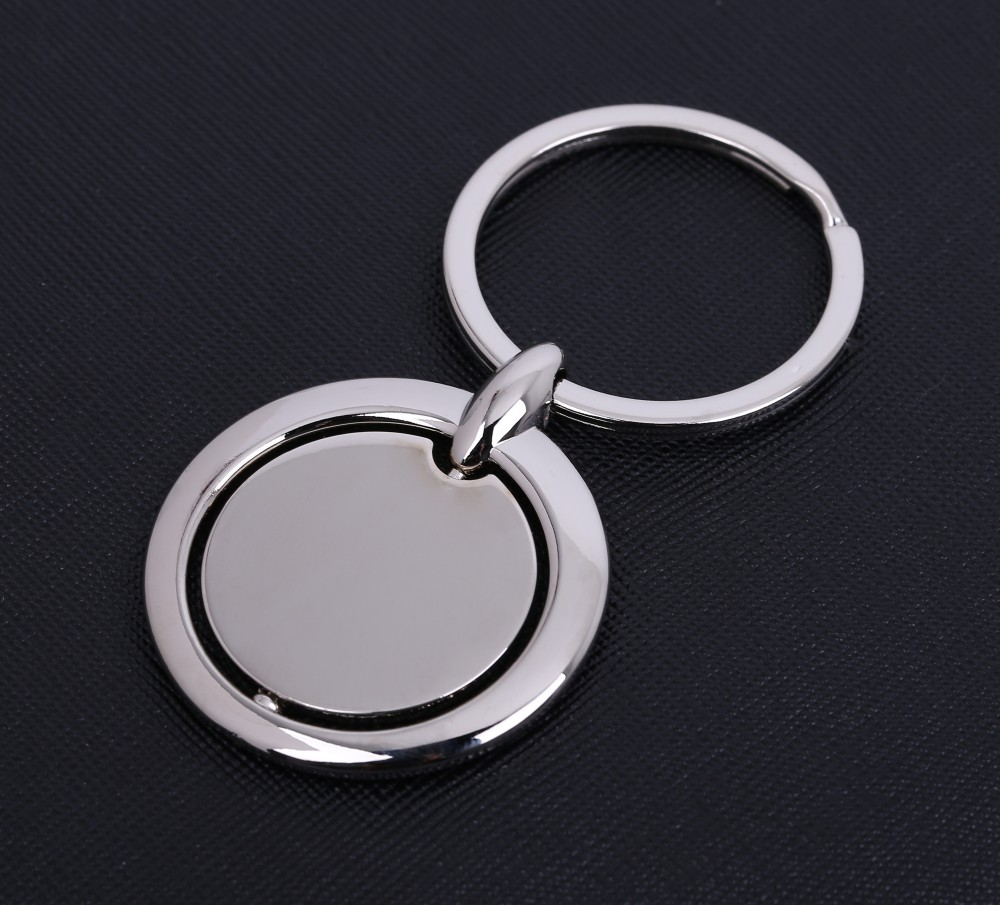 hotselling rotatable key chain spinner metal keychain