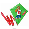cheap advertising custom made logo print diamond shape kite