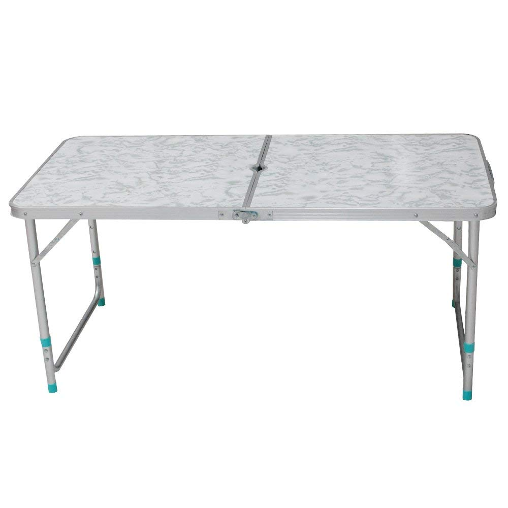 Wido 4Ft Folding Camping Picnic Table Catering Trestle Outdoor Party Portable Party BBQ