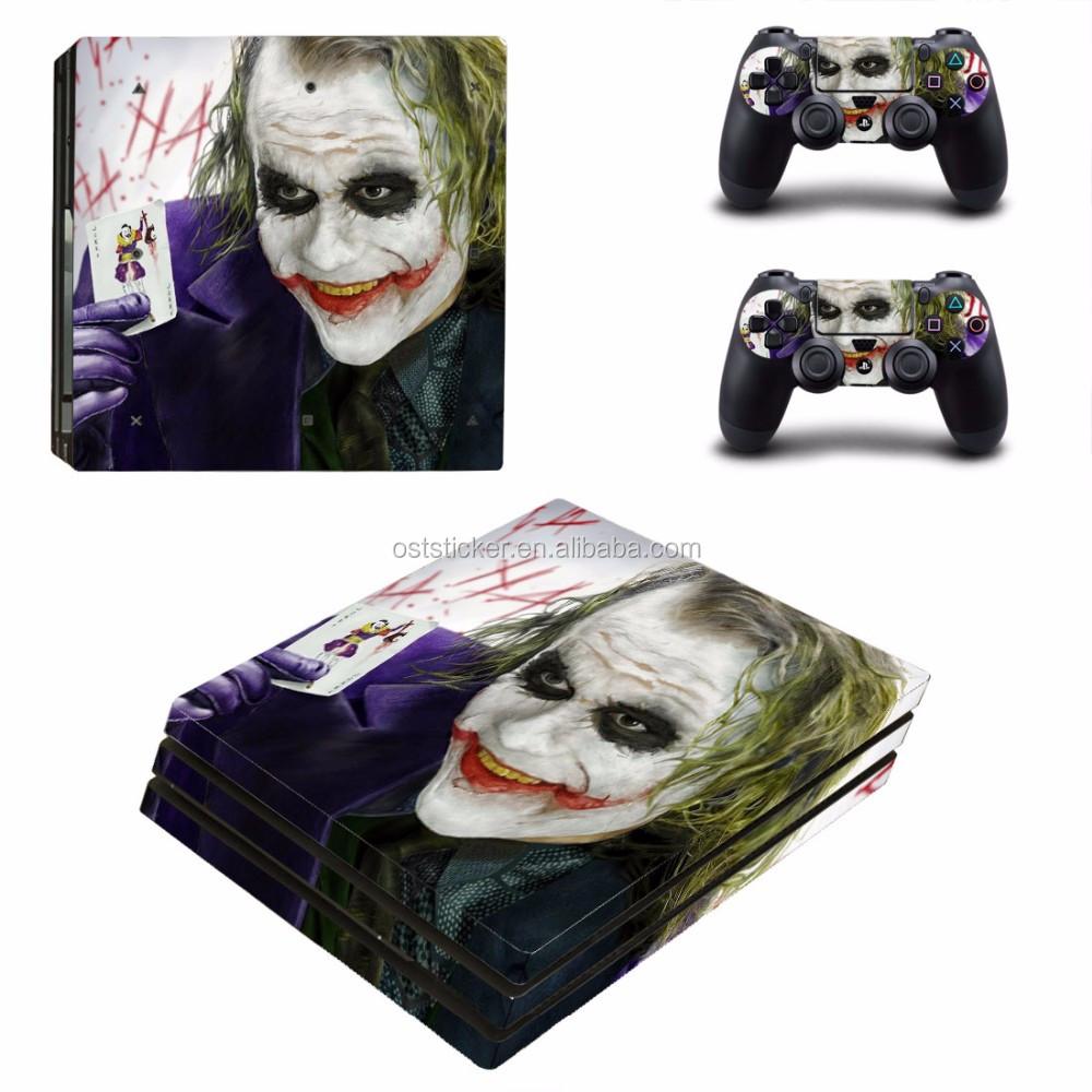 Videospiele Neue Ankunft Joker Design Hohe Qualität Wasserdichte Schutz Vinyl Für Ps4 Slim Aufkleber