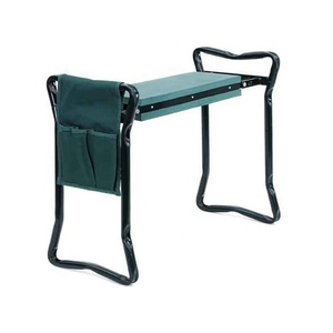 Hot selling Green foam pad garden kneeler seat with 1 bonus tool bag pouch