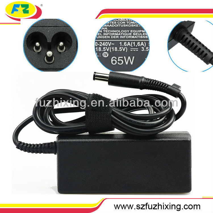 Para HP/Compaq laptop adaptador 65 W 18.5 V 3.5A grande PIN