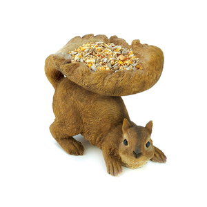 Resin squirrel innovative Outdoor Bird Feeder