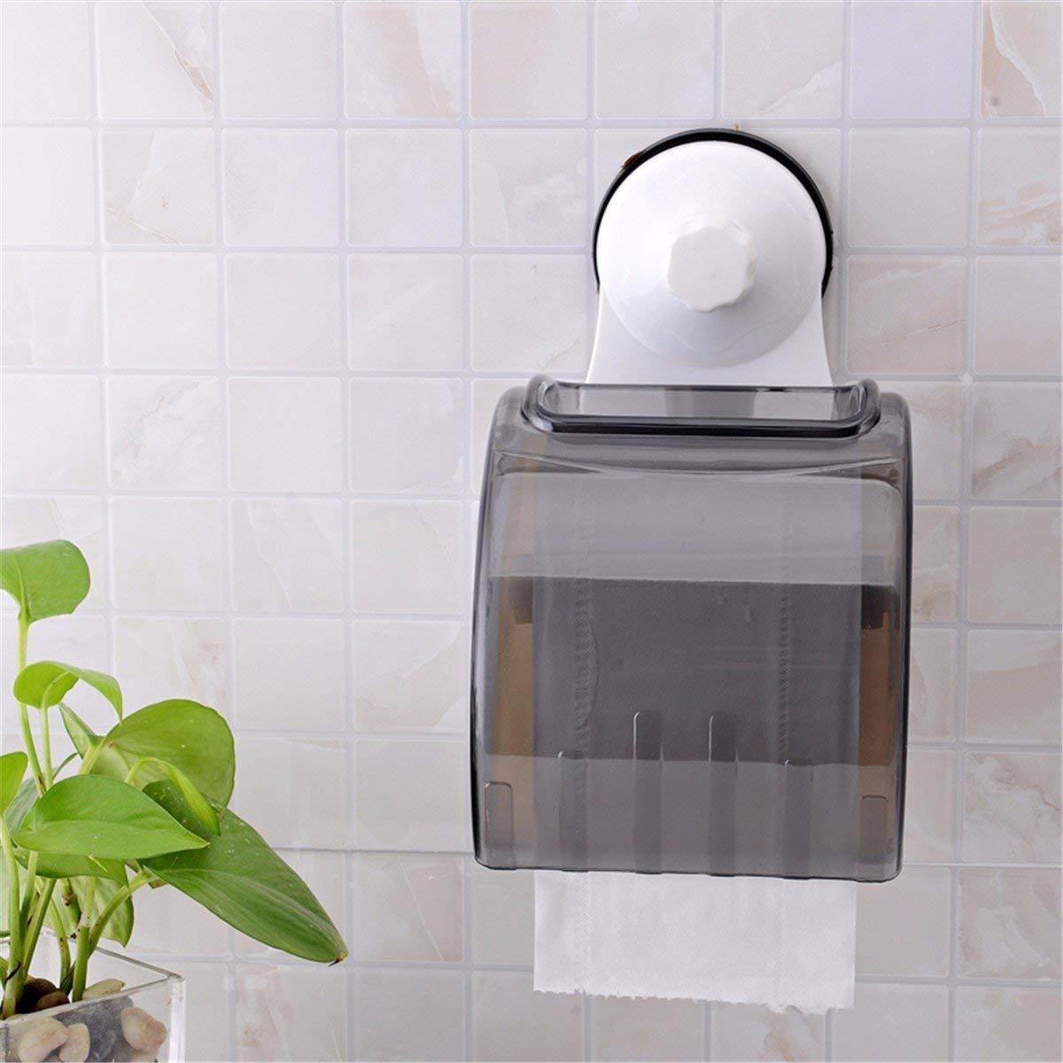 ZHAS The suction unit paper towel rack toilet toilet paper box roll paper barrel toilet paper box roll paper holder Toilet Paper Holders