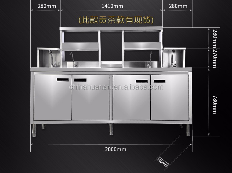 Bartender Stainless Steel Bars Counter Working Station