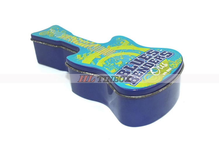 Guitar Shape High Quality Empty Candy Chocolate Tin Box