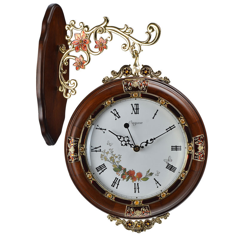 Home Decoration Hanging Double Side Wall Clocks Vintage For