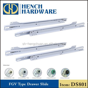 Correderas telescopic white drawer slides