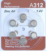 Zinc-air battery rechargeable high quality for hearing aid application