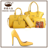 Y71 Women's Italian Shoe and Bag Matching Sets / Leather Italian Shoes and Handbag