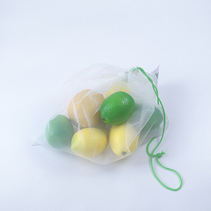 cheap recycle reusable grocery mesh bag for fruit and vegetable packing