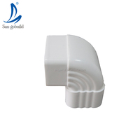 Unti-UV building materials plastic roofing decoration vinyl rainwater collector rain water channel roof gutter downspout elbow
