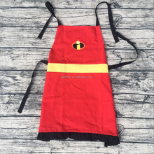 Wholesale family The Incredibles aprons girls cotton fabric ruffle chef princess apron pattern