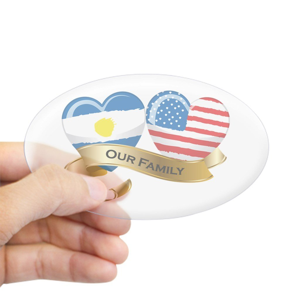 Get quotations · cafepress argentina usa flag our family oval sticker oval bumper sticker euro oval