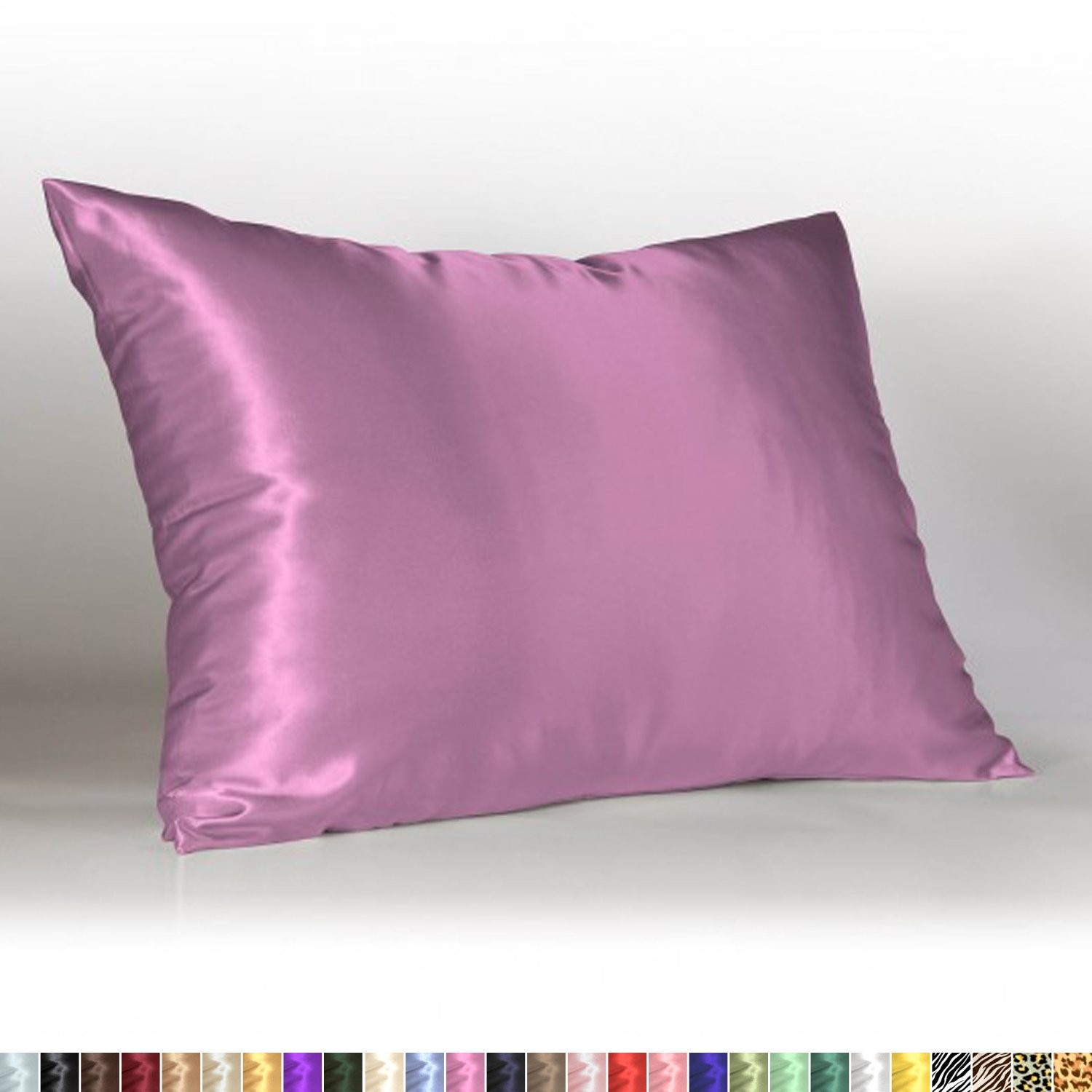 Sweet Dreams - Blissford Luxury Satin Pillowcase with Zipper, Standard Size, Lavender (Silky Satin Pillow Case for Hair) By Shop Bedding (1-Pack)