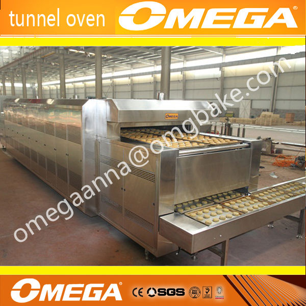 continuous tunel oven for moon cake /manufacture with ce