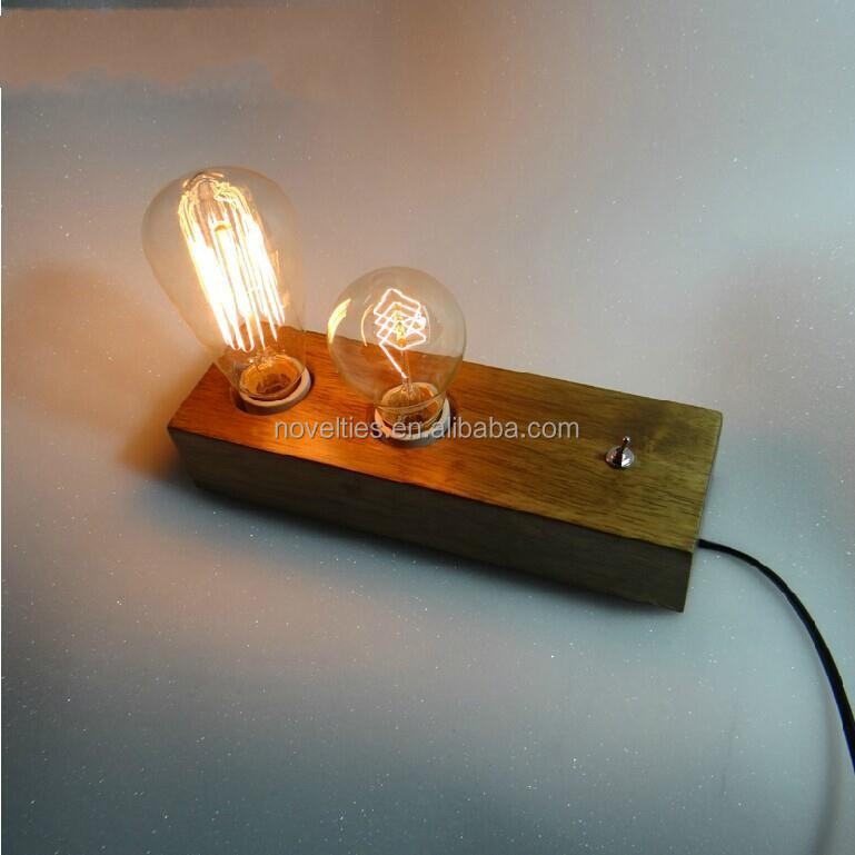 High Qualtiy E27 Wood Edison Table Lamp