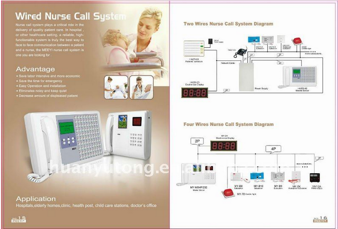 Meeyi Ward Nursing Equipments Patient Nurse Call Bell System