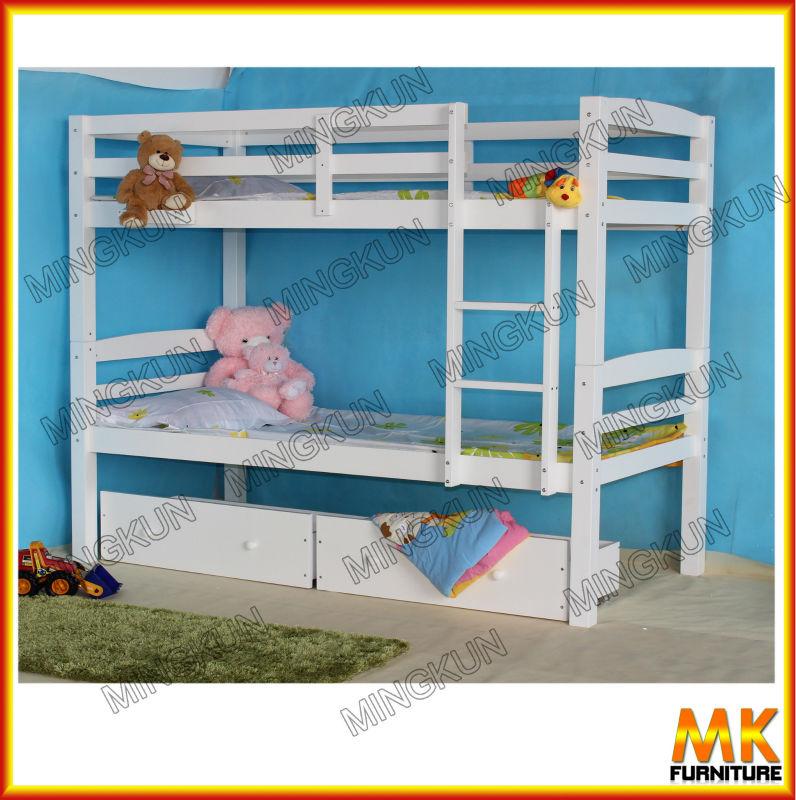 Cama litera para ni os con bajo cajones de madera camas - Camas literas para ninos ...