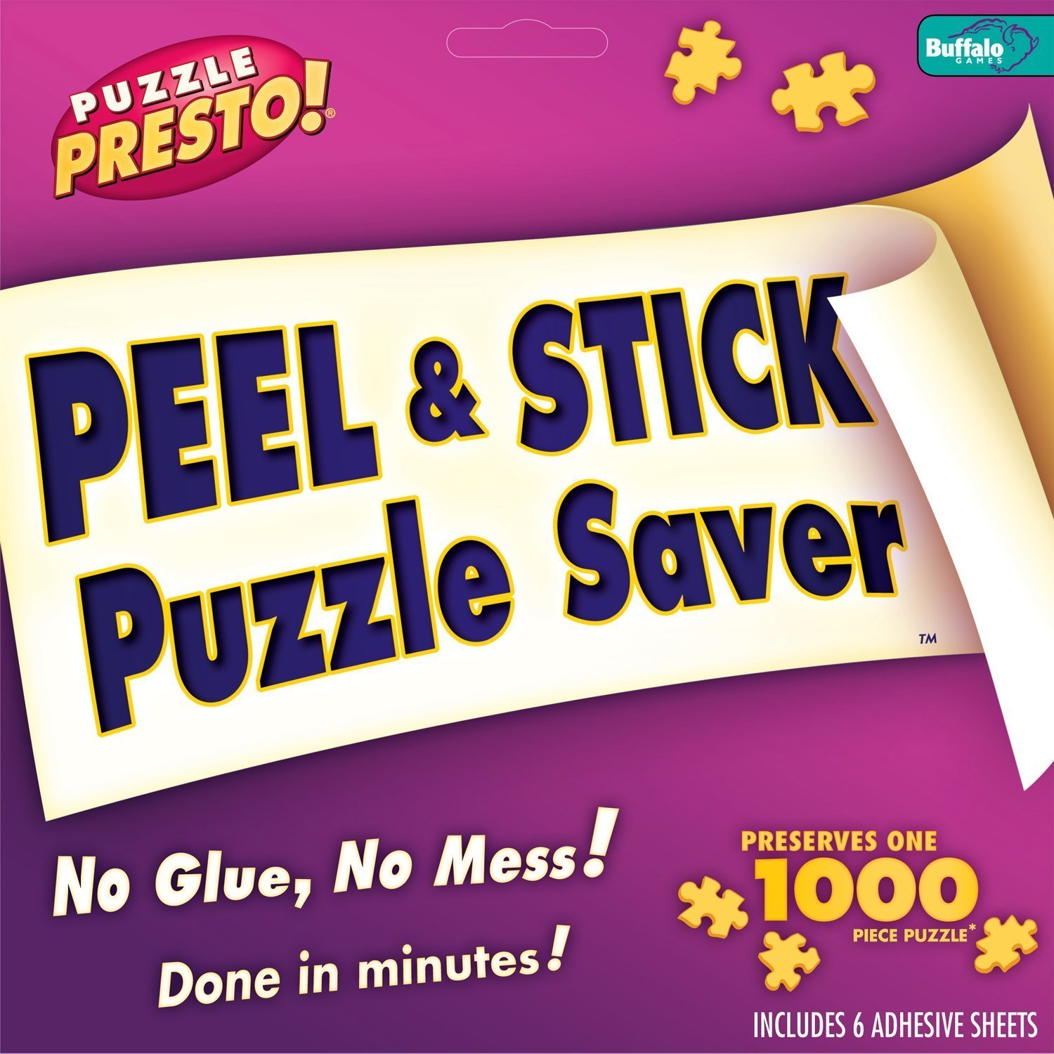 Puzzle Presto Peel & Stick Puzzle Saver, 6 Sheets with Free Storage Bag